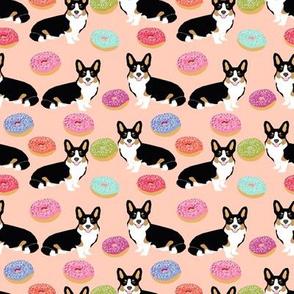 corgi tricolored donut fabric cute pastel dogs fabric cute dog design