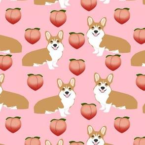 corgi peach emoji cute pink corgis fabric large corgis fabric cute dog design