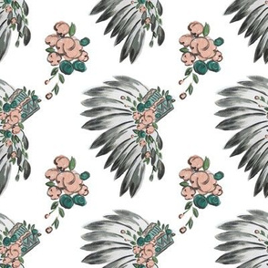 Floral Headdress Repeat