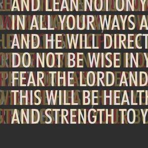 proverbs 3 Trust