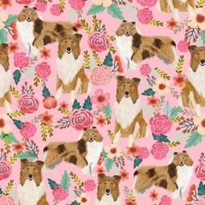 rough collie florals fabric cute collies design best collie dog fabric floral vintage florals les fleurs fabric