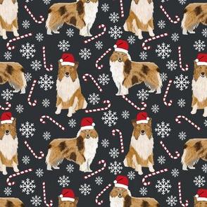 rough collie christmas fabric cute pet dog xmas holiday christmas design best christmas dogs fabric