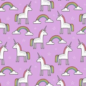 Cute Unicorn Rainbow in Purple 1,5 inch wide