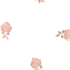 Dainty Floral in Rose Gold