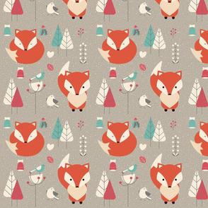 Woodland Winter Fox