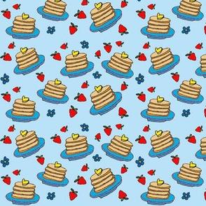 Pancakes blue small