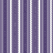 Blue on Lavender Jagged Stripes, with white accents