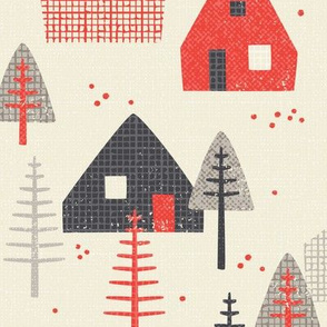 *New* Larger - Alpine Chalet // by petite_circus