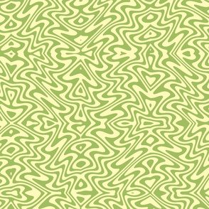 butterfly swirl in green tea