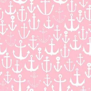 anchors // nautical fabric cute nautical pink anchors fabric girls summer fabric cute anchors fabric