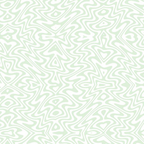 butterfly swirl in pale green and white