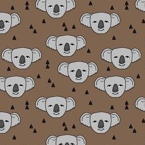 koala // cute koala faces australian animal fabric australia zoo animals cute koalas pattern print by andrea lauren