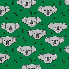 koala // green koalas fabric cute australian animals fabric pattern australia fabric cute animals baby nursery fabrics