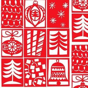 christmas woodcut