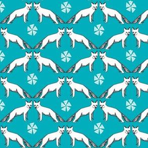 arctic fox // turquoise fox fabric nursery baby arctic foxes andrea lauren nursery baby