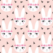 bunny rabbit blush baby nursery fabric cute baby design