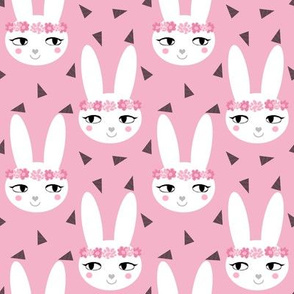 bunny rabbit pink baby nursery fabric cute baby design