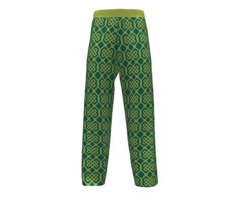 Green Celtic Knot Lattice