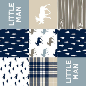 little man patchwork quilt top (90) || the rustic woods collection