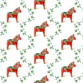 Dala Horse Red with Folk Art_Pattern