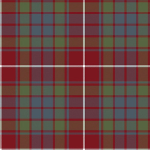 Fraser red gathering weathered tartan, 10""