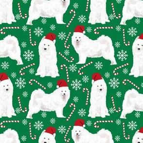 samoyed christmas fabric peppermint sticks candy cane fabric snowflakes xmas holiday samoyeds fabric