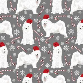 samoyed christmas dogs christmas fabric peppermint stick snowflakes christmas dogs dog christmas