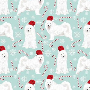 samoyed christmas dog christmas christmas dog fabric peppermint stick christmas dogs snowflakes winter fabric