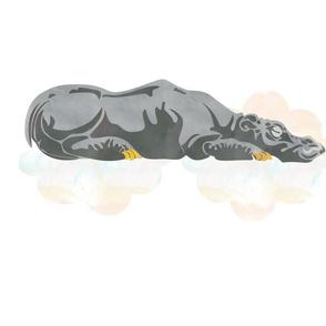 Sleeping Hippo Fat Quarter