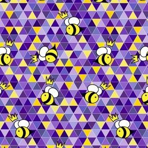 Bees (purple & yellow triangles)