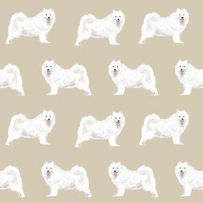samoyed sled dog design khaki dogs fabric samoyeds dog design sled dogs sammy dog fabric