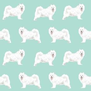 samoyed dog fabric samoyeds dog design mint sled dog design