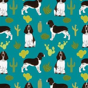 english springer spaniel dog cactus fabric dog design spring spaniel fabric spaniels dog design