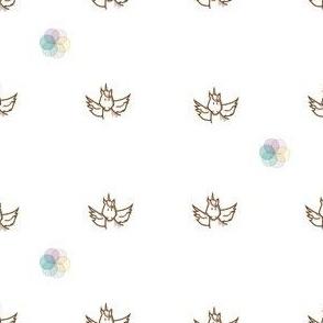 unicorn and rainbow flower