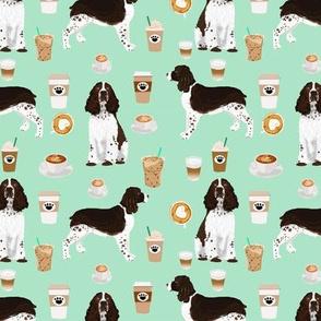 english springer spaniel dog fabric coffees and dogs fabric mint coffee spaniel fabric