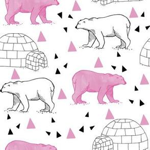 polar_bears___igloos__pink___white