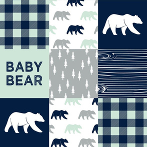 baby bear patchwork quilt top || the northern light collection