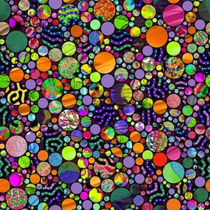 PROFUSION CIRCLES BUBBLES ORANGE LIME PURPLE