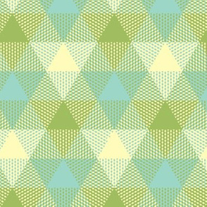 triangle gingham in oolong pastels