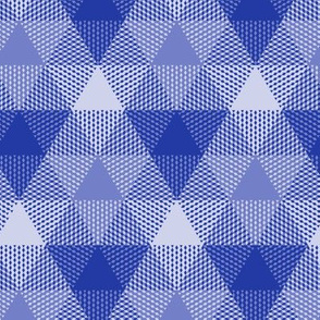 triangle gingham in morning blue