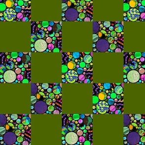 CHECKS PROFUSION MOSS GREEN AND MINT GREEN