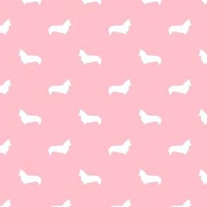 blossom corgi silhouette dog fabric cute dog design pets fabric for sewing