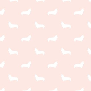 blush corgi silhouette dog fabric cute dog design pets fabric for sewing