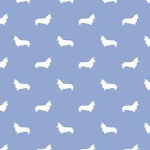 cerulean corgi silhouette dog fabric cute dog design pets fabric for sewing