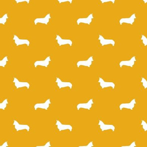 golden corgi silhouette dog fabric cute dog design pets fabric for sewing