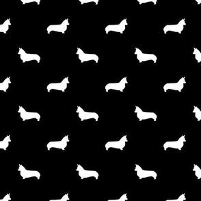 marine blue corgi silhouette dog fabric cute dog design pets fabric for sewing