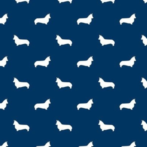 navy corgi silhouette dog fabric cute dog design pets fabric for sewing
