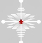 Swiss Christmas Snowflake red