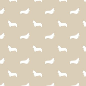 sand corgi silhouette dog fabric cute dog design pets fabric for sewing