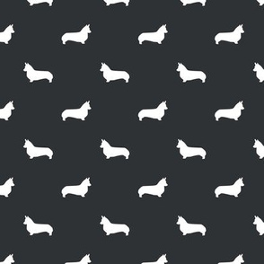 space grey corgi silhouette dog fabric cute dog design pets fabric for sewing